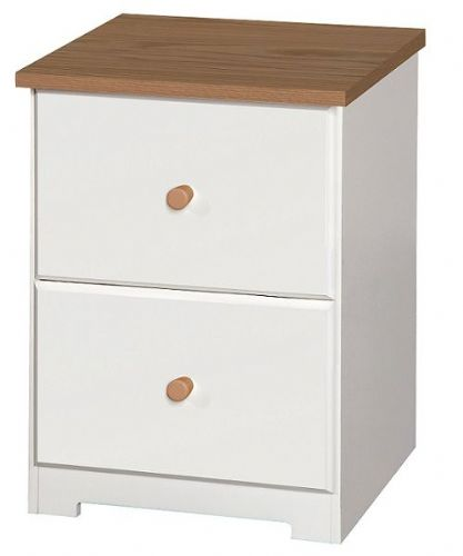 Corby White 2 Drawer Bedside